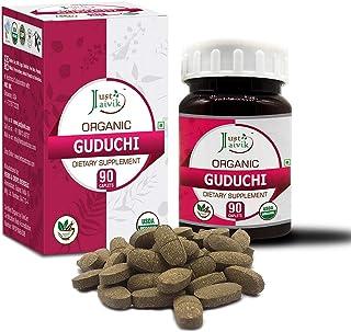 Sponsored Ad - Just Jaivik Organic Guduchi (Tinospora Cordifolia) / Giloy Tablets As Dietary Supplements - 750mg (90 Table...