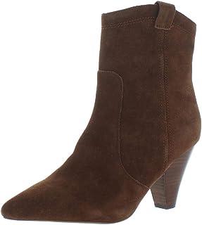 Kensie Womens Kalila Suede Pointed Toe Booties Brown 8.5 Medium (B,M)