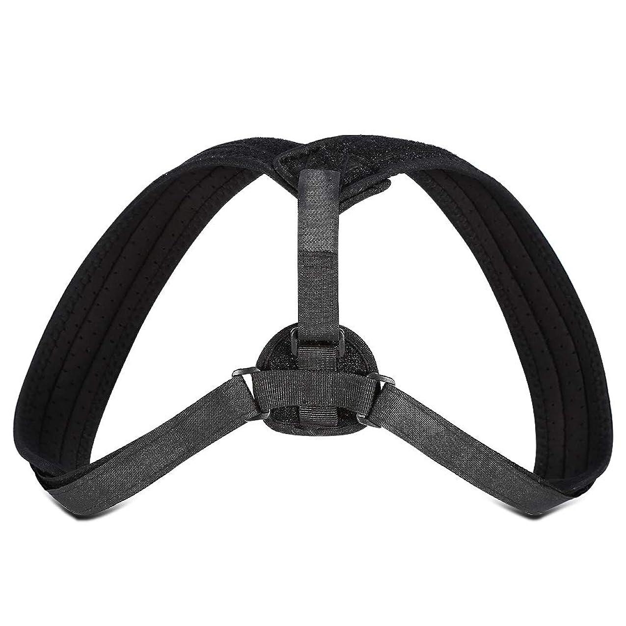 どこ悪い可動式Yosoo Posture Corrector - ブレースアッパーバックネックショルダーサポートアジャスタブルストラップ、肩の体位補正、整形外科用こぶの緩和のための包帯矯正、ティーン用