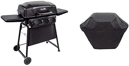 Char-Broil Classic 405 4-Burner Gas Grill with Char-Broil 3-4 Burner Large Rip-Stop Grill Cover