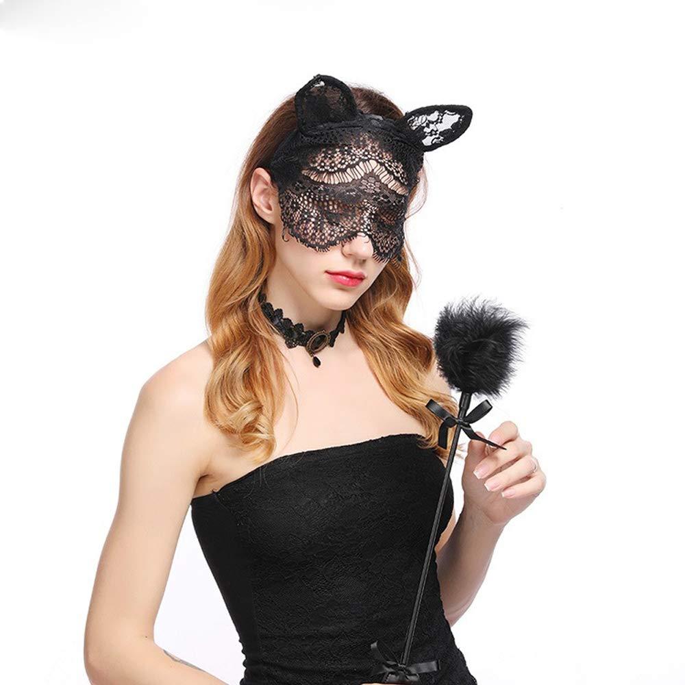 Halloween lace cat veil headbands