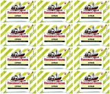 Fisherman's Friend Sugar Free Refreshing Citrus Flavor Cough Lozenges, 25g pack, (Pack of 12)