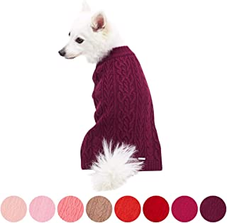 Blueberry Pet 20 Colors Wool Blend or Acrylic Classic Cable Knit Dog Sweater