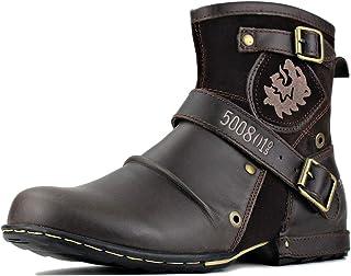 osstone Moto Botte Hommes Rivet Boot Bottes Vintage Cheville Hiver Boot Casual Cowboy Chaussures OZ-5008-1