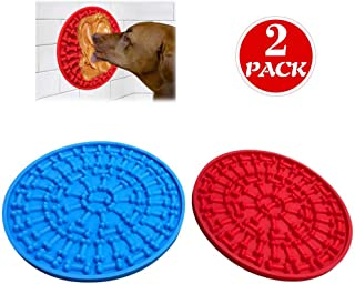 TESLUCK Dog Lick Pad, Dog Washing Distraction Device for Dogs Bathing Grooming, Silicone Dog Slow Feeder Lick Mat with Super Suction, Bath Buddy for Dogs, Shower Easy Just Spreading Peanut Butter