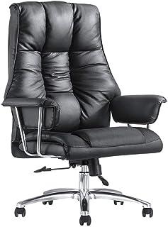 Silla de trabajo ergonómica Trabajo de la silla ejecutiva Silla ejecutiva de piel con respaldo alto Silla de oficina Escritorio de la computadora silla de oficina con brazos Silla de escritorio