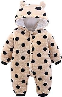 dd36f93399a22 Mamum Enfant Grenouillère Combinaison Corail velour à Capuche Costume  Animal Pyjama Épais Manches Longues Chaud d