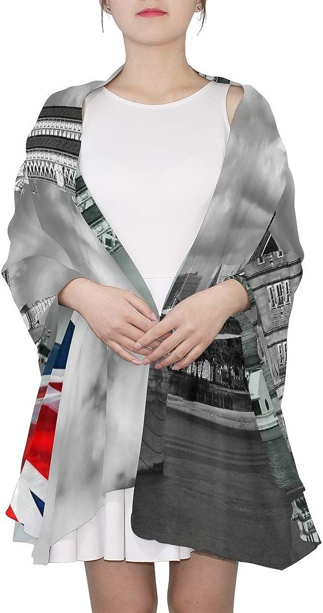 Head Wrap Scarf England Uk Flag London City Tower Bridge Fashion Scarf For Women Colored Shawl Wrap Lightweight Print Scarves Women Wrap Scarf Scarf Long Lightweight