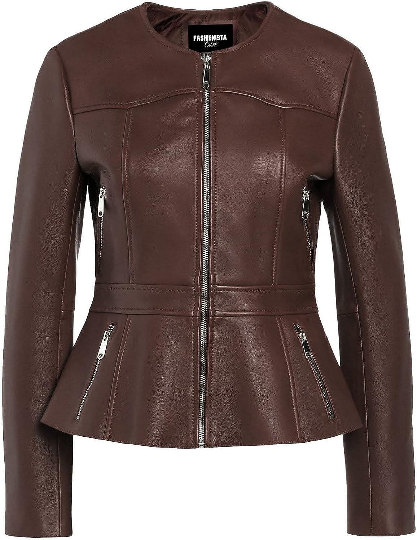 Fashionsta Craze Brown Short Body Faux Leather Jacket for Women - Women Short Body Jacket