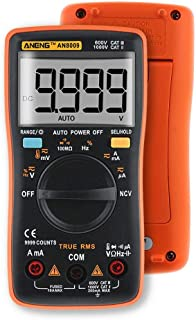 Autoranging Multimeter Kit, ANENG AN8009 Digital Multimeter Tester with Leads Test Probe AC/DC Voltage Electronic Meter