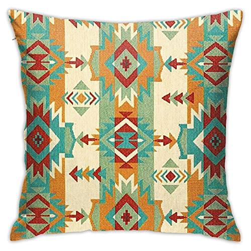 Federa copricuscino per cuscino con simbolo etnico africano, tribale nativo americano, con stampa quadrata, per divano, casa, 45,7 x 45,7 cm