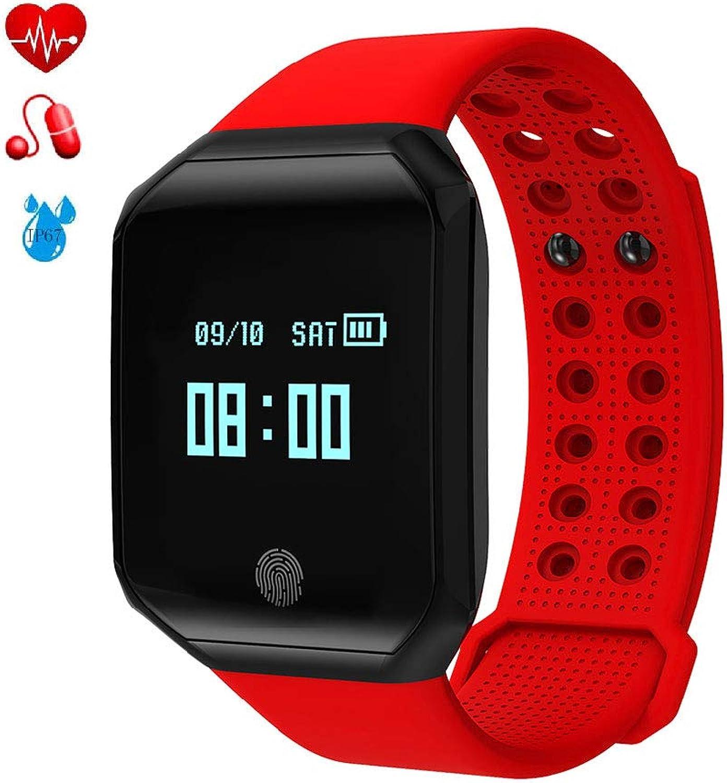 Best Fitness Tracker with Heart Rate Monitor Smart Heart Rate Bracelet Waterproof Caller Information Display Blood Pressure Gauge Step Health Sports Health Watch