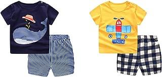 Baby Boy's T-Shirt Short-Sleeve Short Set Cartoon Tees Pant Sets for Infant Toddlers Kids 6-48 Months 2 -Set