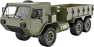 Debuy Army Military Truck Model 1/16 2.4G 6WD RC Car Proportional Control Toys Kids Gift