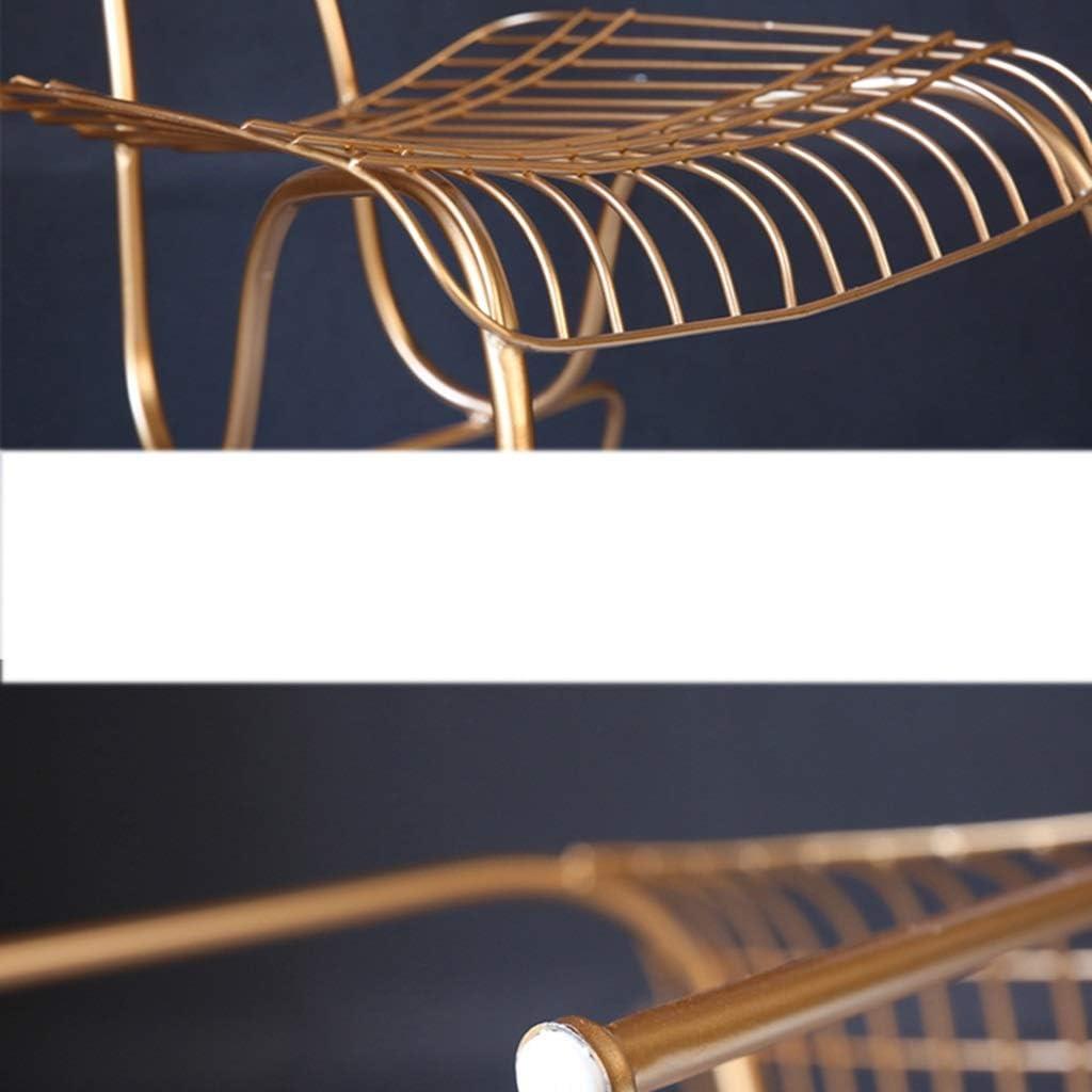 Nordic Barbed Wire Chaise Creux Talk Chair Fer Forgé Creative Simple Chaise De Chaise Or Maison Moderne À Manger Chaise En Métal Chaise (Couleur : Or) Or