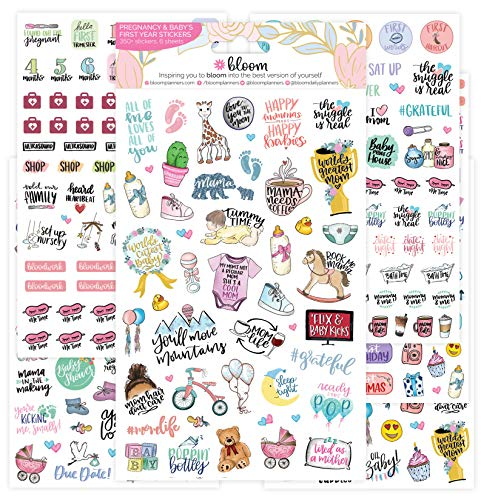 bloom daily planners New Pregnancy & Baby's First Year Planner Sticker Pack...