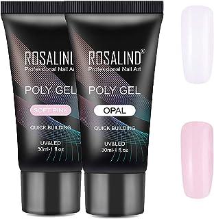 Kit de uñas de Polygel de 2 * 30 ml kit de extensión de uñas acrílicas de gel de construcción de color blanco rosa herra...