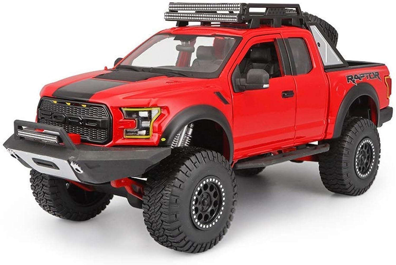 mejor opcion KaKaDz Wei KKD Escala Modelo Simulación Vehículo Modelo Rojo Coche Coche Coche Ford Raptor F150 Modelo 1 24 Modelo a Escala Modelo de fundición Modelo estático Decoración Regalo Colección Hobby  descuento de ventas en línea