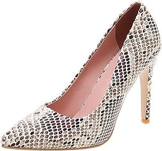 Melady Women Fashion Pumps Stiletto Heels Animal Print