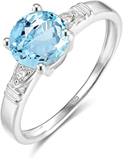 Wedding Engagement Ring Anniversary Eternity Bridal Ring S925 Ring Anniversary Ring Engagement Women Ring Wedding with Blue Topaz