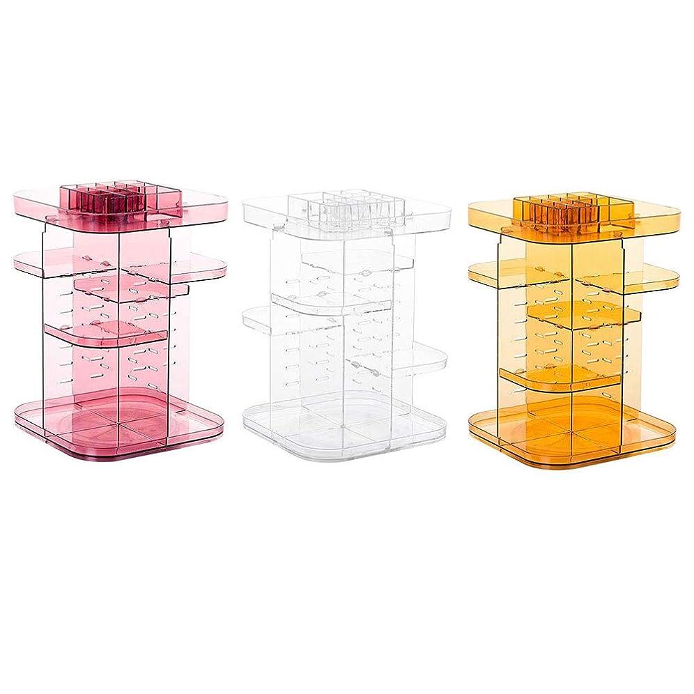 せがむ現代敬意を表してFriferスクエア回転化粧品収納ラック360度化粧ラックスキンケア製品口紅収納ボックス