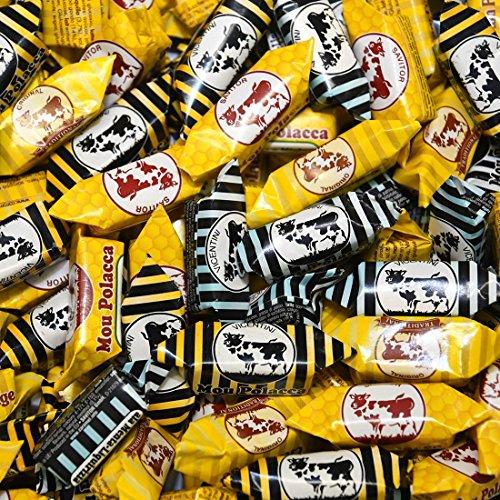 Assortimento Caramelle Mou Polacche Kg 1 - Le morbide caramelle della Mucca Polacca ai gusti: Latte Tradizionale, Latte e Miele, Panna e Liquirizia, Menta e Liquirizia