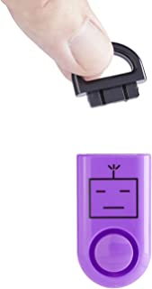 B A S U eAlarm, The World's Smallest Emergency Alarm, Proven Results 120dB Personal Alarm, Battery Included, Carabiner Included, Purple