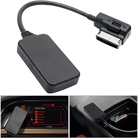 Hugeauto Ami Mdi Mini Bluetooth 4 0 Deb Audio Input Adapter Mdeic Interface Mp3 Aux Cable Adapter For Car Audi Vw Auto