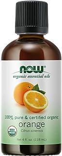 NOW Essential Oils, Organic Orange Oil, Uplifting Aromatherapy Scent, Cold Pressed, 100% Pure, Vegan, Child Resistant Cap,...