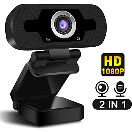 Calling and Conferencing Lovebay Webcam Gaming Full HD 1080P USB Webcam Built-in Mic Computer Camera for for Live Streaming
