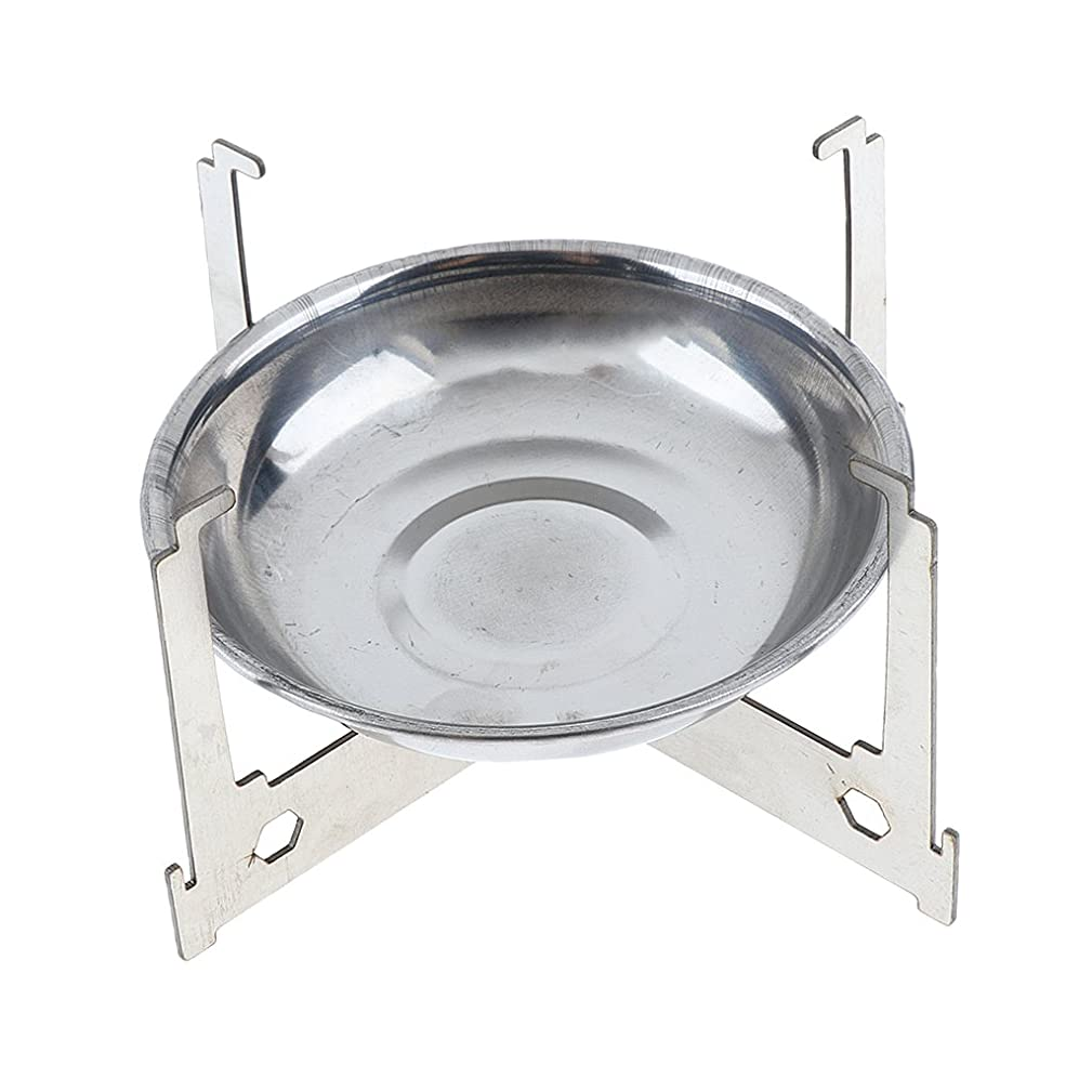 Baoblaze Camping Mini Alcohol Stove Cross Stand Rack Spirit Burner Tray Plate Furnace Stove Outdoor Accessories