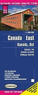 Canadá este, mapa impermeable de carreteras. Escala 1:1.900.000 impermeable. Reise Know-How.