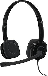 Logitech H151 Auriculares con Cable, Sonido Estéreo con Micrófono Giratorio, Jack 3,5mm, Controles Integrados, PC/Mac/Port...