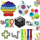 Fidget Toys Pack, Fidget Toys Simple Dimple Fidget Toy pour Soulager le Stress et l'anxiété, Anti Stress Jouet pour Enfants, Adultes, Couples Cadeau