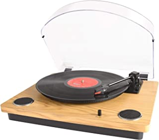 Record Player Max Pad, Vinyl Turntable with Stereo Speakers, Supports Arm Automatically Return&Stop /RCA Output /Aux in /USB Convert Vinyl to MP3