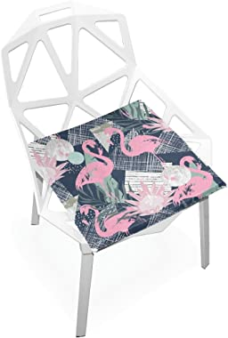 Seat Cushion Chair Cushions Covers Set Pink Flamingos Decorative Indoor Outdoor Velvet Double Printing Design Soft Seat Cushi