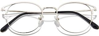 Cyxus Cat Eye Blue Light Glasses for Women Computer Eyeglasses Anti Eye Fatigue Eyewear Metal Frame