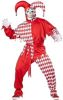 Da Uomo Gotico VENEZIANO Da Giullare Medievale Carnevale Halloween Costume