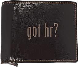 got hr? - Soft Cowhide Genuine Engraved Bifold Leather Wallet