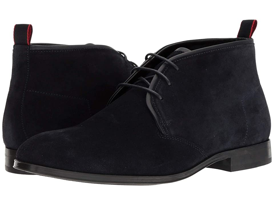 BOSS Hugo Boss Boheme Suede Chukka Boot by HUGO (Dark Blue) Men