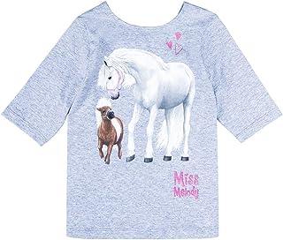 Miss Melody Niñas Camiseta, Gris Clair Melange