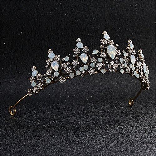 MultiKing Hoofdtooi voor bruid, model Europese en Amerikaanse pallets, imitatie, zirkonia, bruid, diamant, kroon, bruidsmeisje, bruidsmeisje, bruiloft, jurk accessoires