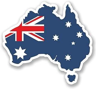 2 x 10cm- 100mm Australia Vinyl SELF ADHESIVE STICKER Decal Laptop Travel Luggage Car iPad Sign Fun #5699