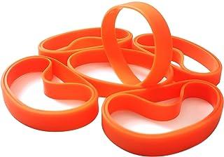 LVNRIDS 100 pièces Bracelets en Silicone Vierges, Bracelet élastique en Caoutchouc de fête de Sport en Gros Bracelet en Vrac