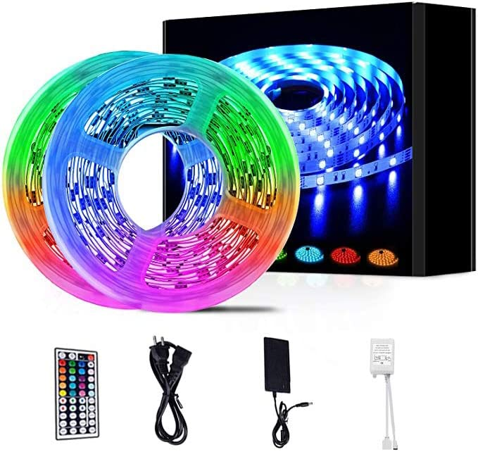 LED Strip Lights Max 79% OFF 32.8ft RGB Strips 5050 with Controll Ranking TOP5 Remote