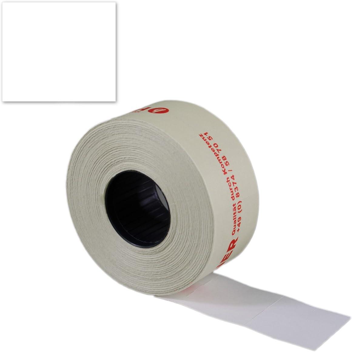 PE551= 30 Rollen a 700 Etiketten 29x28 mm RE weiß Preisauszeichner Preis