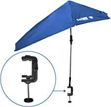 SolPro Clamp-On Shade Umbrella – 4 Way Clamp Umbrella with 360 Degree Swivel and Push..