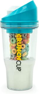 The CrunchCup - A Portable Cereal Cup - No Spoon. No Bowl. It's Cereal On The Go. (Blue)