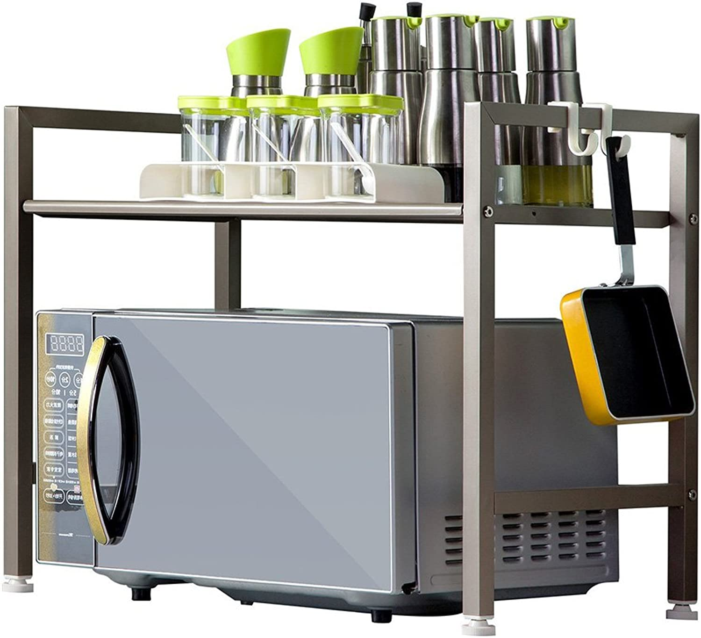 Best Shelves- 2 Tiers Microwave Oven Rack Kitchen Electrical Shelf Debris Storage Rack Home Rack (color   Champagne gold)