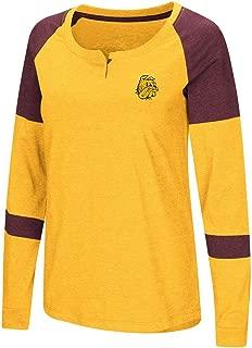 Colosseum Womens Minnesota Duluth Bulldogs Long Sleeve Raglan Tee Shirt